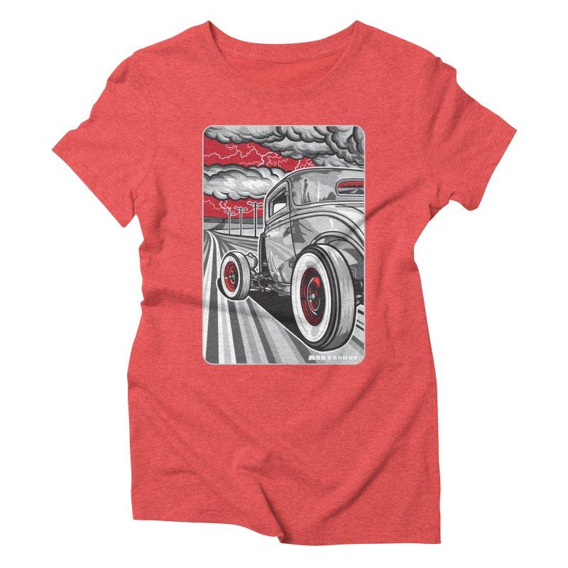 LIGHTNING ROD Women's Triblend T-Shirt by Max Grundy Design's Artist Shop
