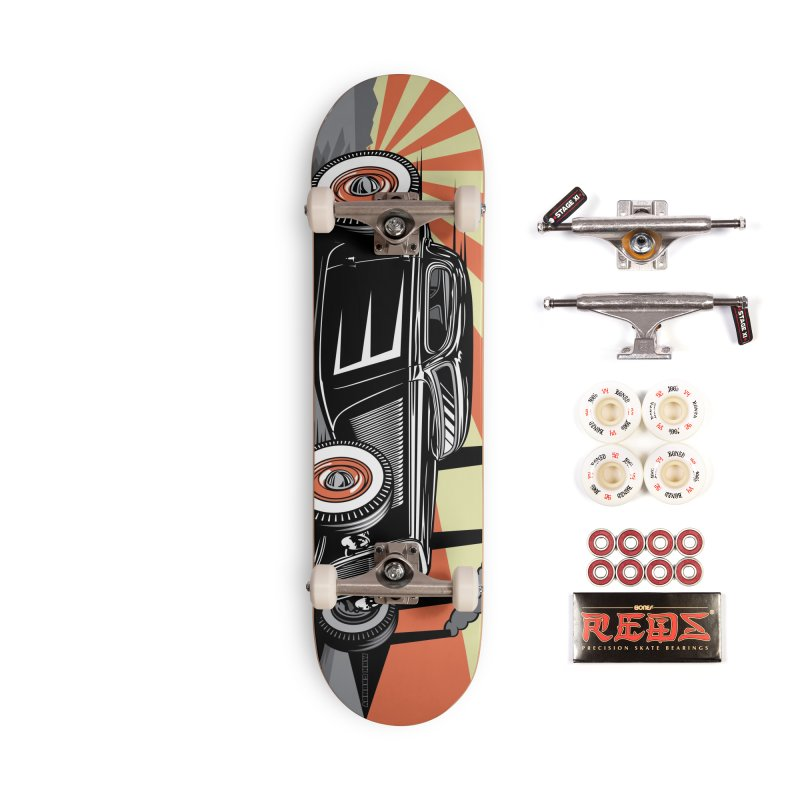 RED DAWN skateboard deck Accessories Complete - Pro Skateboard by Max Grundy Design's Artist Shop