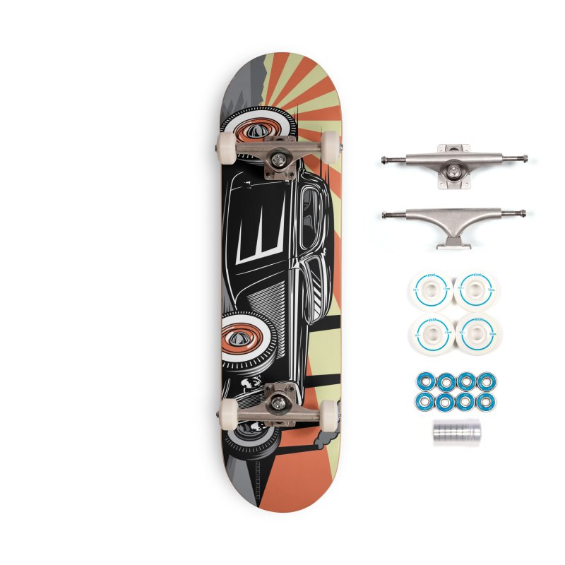 RED DAWN skateboard deck Accessories Complete - Basic Skateboard by Max Grundy Design's Artist Shop