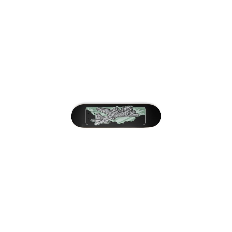 B-17 skateboard deck Accessories Skateboard by Max Grundy Design's Artist Shop