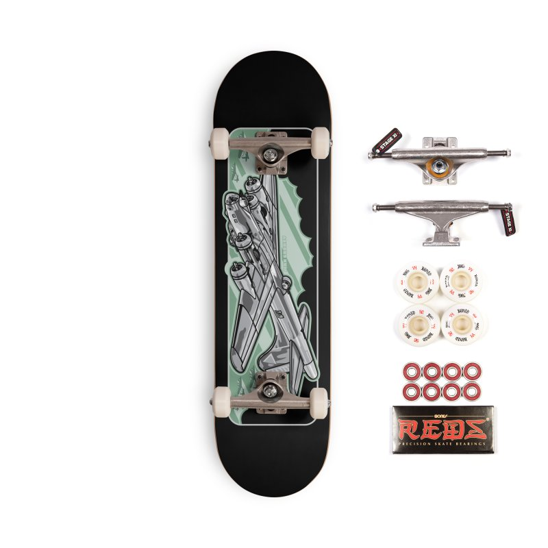 B-17 skateboard deck Accessories Complete - Pro Skateboard by Max Grundy Design's Artist Shop