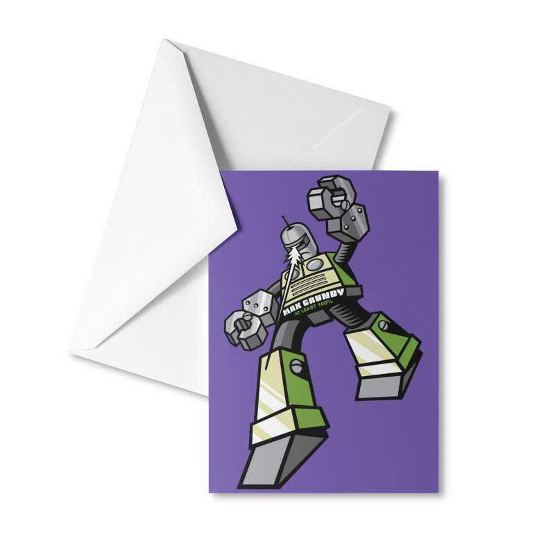 MASTER BLASTER Accessories Greeting Card by Max Grundy Design's Artist Shop