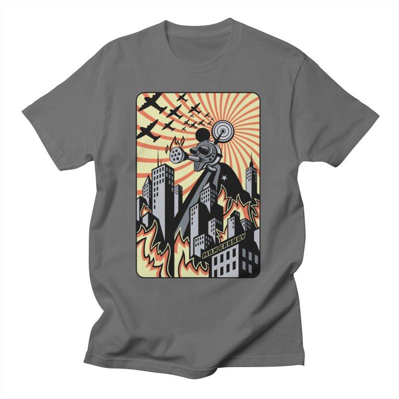 FINKZILLA DESTROYS TOKYO t-shirt (men, women, kids) Men's T-Shirt by Max Grundy Design's Artist Shop