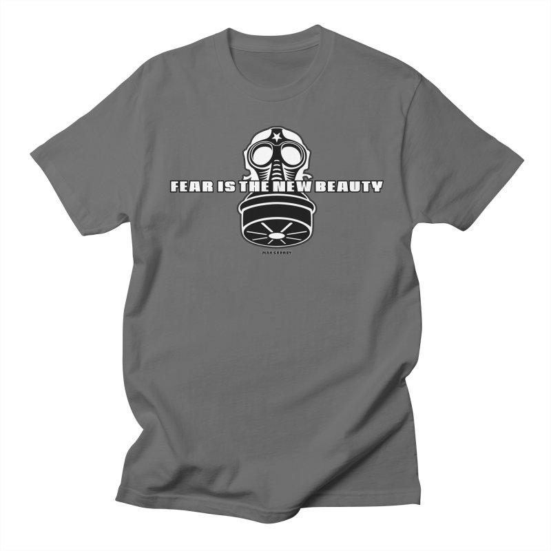 FEAR MASK t-shirt (men, women, kids) Men's T-Shirt by Max Grundy Design's Artist Shop