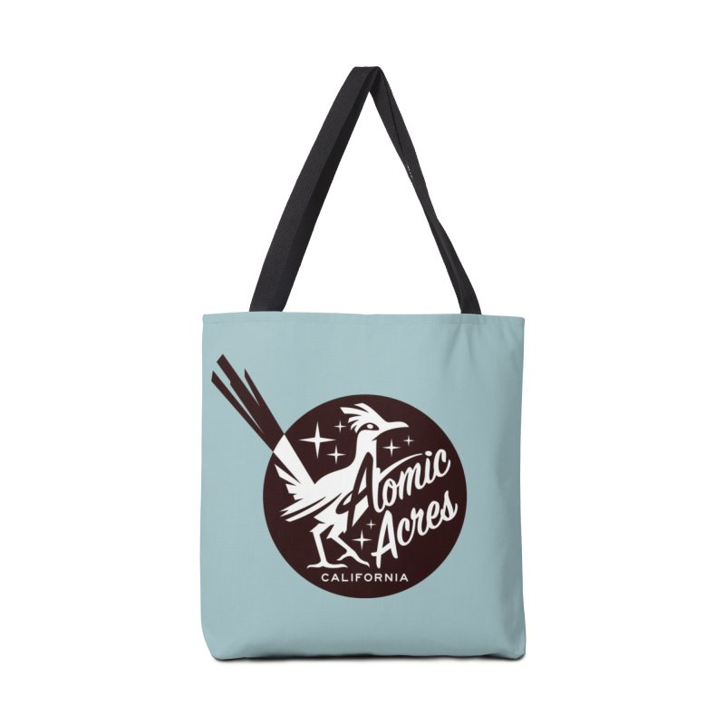 ATOMIC ACRES tote bag (turquoise) Accessories Bag by Max Grundy Design's Artist Shop