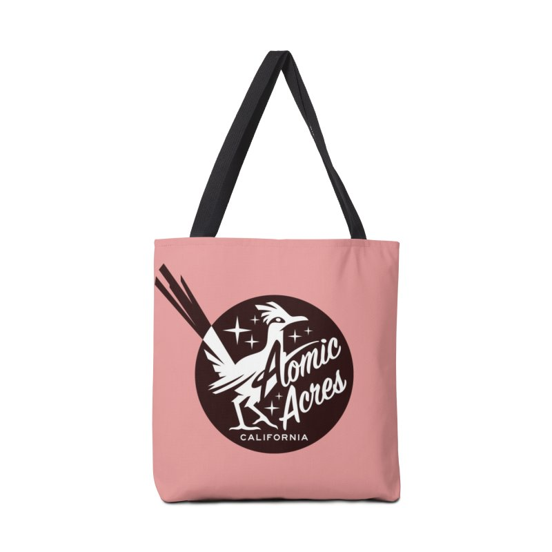 ATOMIC ACRES tote bag (flamingo) Accessories Bag by Max Grundy Design's Artist Shop