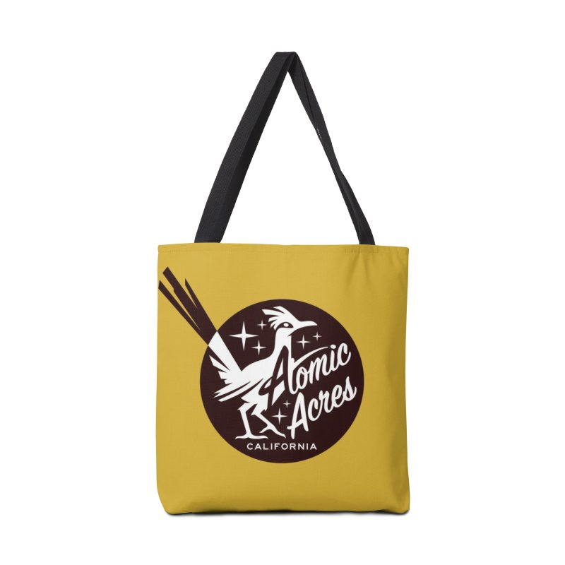 ATOMIC ACRES tote bag (mustard) Accessories Bag by Max Grundy Design's Artist Shop