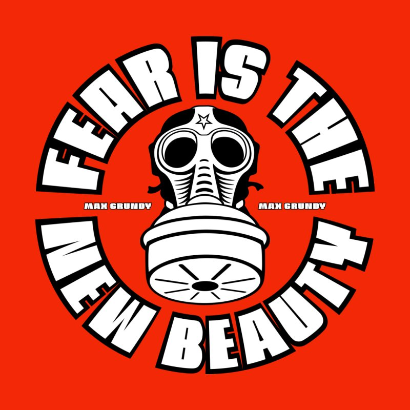 FEAR IS THE NEW BEAUTY (red) tote bag Accessories Bag by Max Grundy Design's Artist Shop