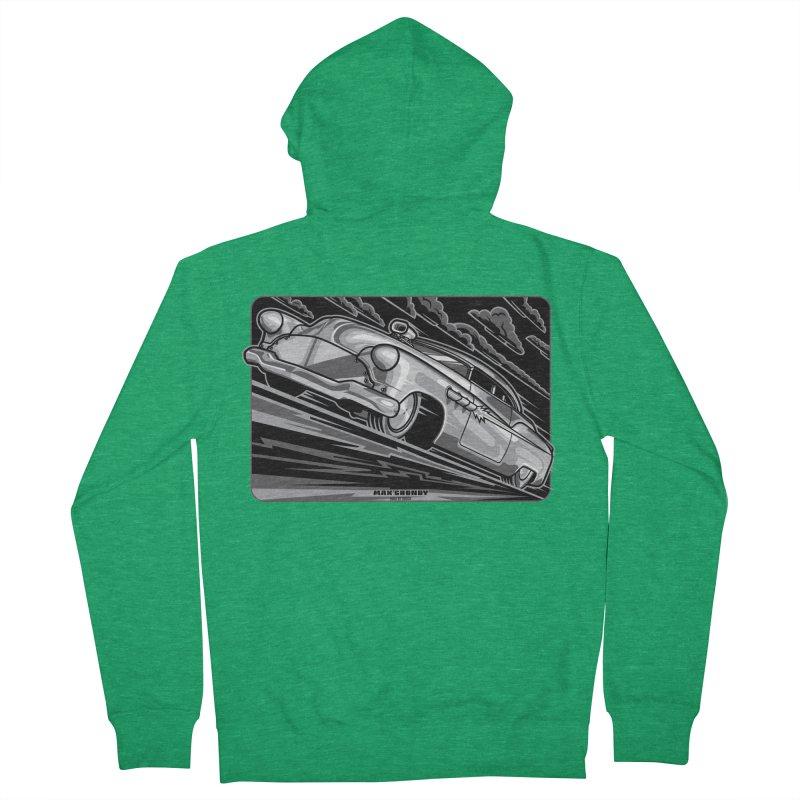 BONNEVILLE BLACKOUT t-shirts (men, women, kids) Women's Zip-Up Hoody by Max Grundy Design's Artist Shop