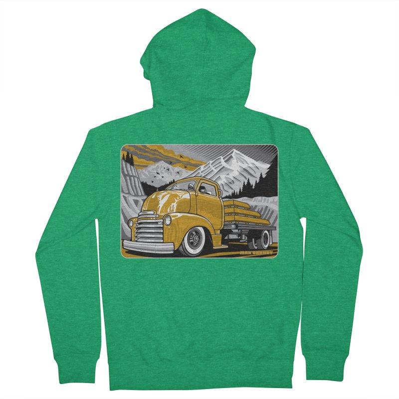 MOUNTAIN HARVEST t-shirt (men, women, kids) Men's Zip-Up Hoody by Max Grundy Design's Artist Shop