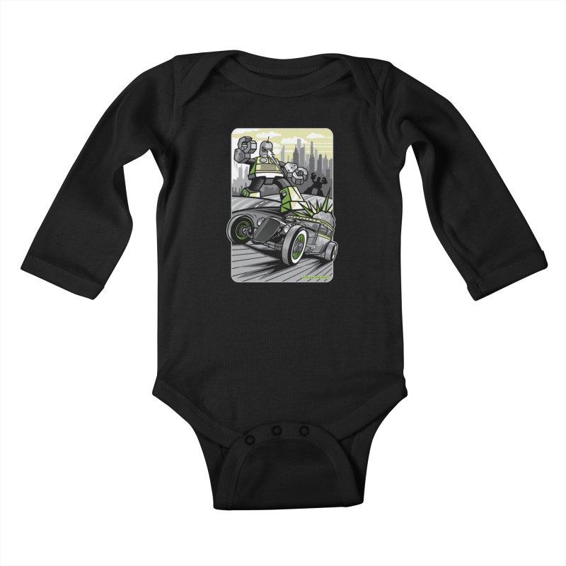 OUT OF ORDER t-shirts (men, women, kids) Kids Baby Longsleeve Bodysuit by Max Grundy Design's Artist Shop