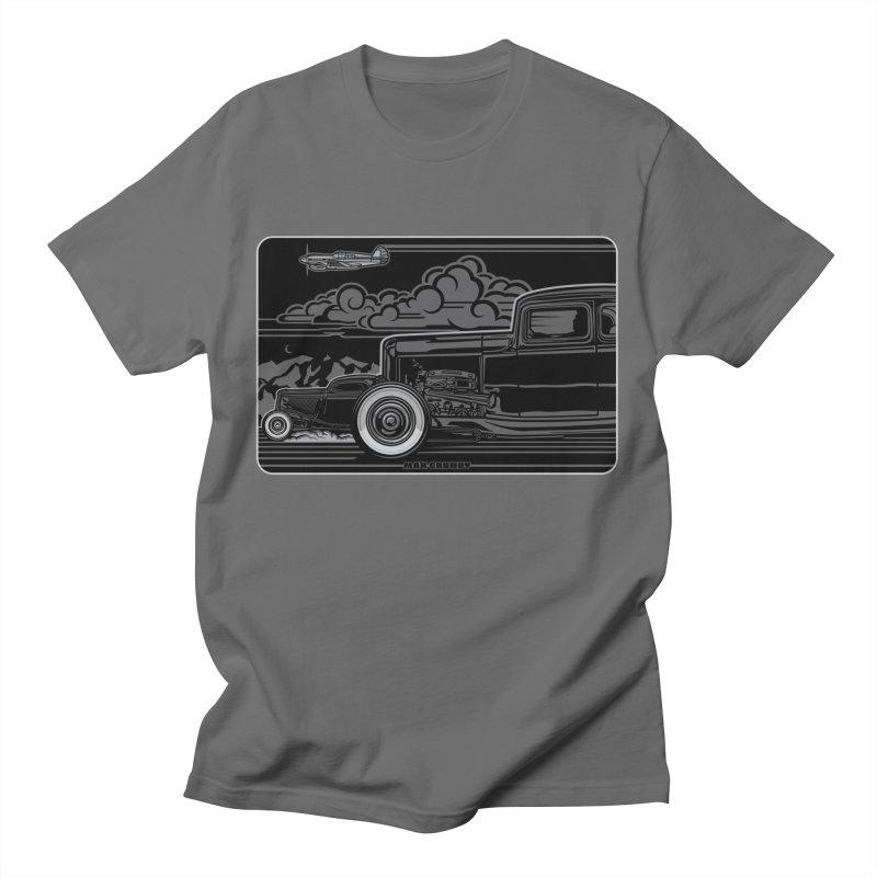TRI POWER NOIR t-shirt (men, women, kids) Men's T-Shirt by Max Grundy Design's Artist Shop