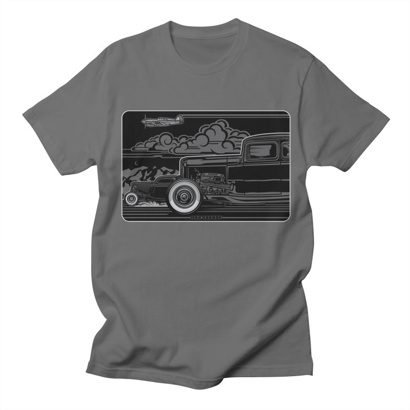 TRI POWER NOIR t-shirt (men, women, kids) Men's T-Shirt by Max Grundy Design's Artist Shop