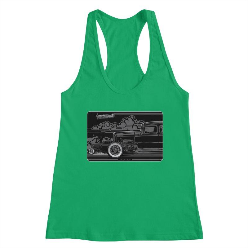 TRI POWER NOIR t-shirt (men, women, kids) Women's Tank by Max Grundy Design's Artist Shop