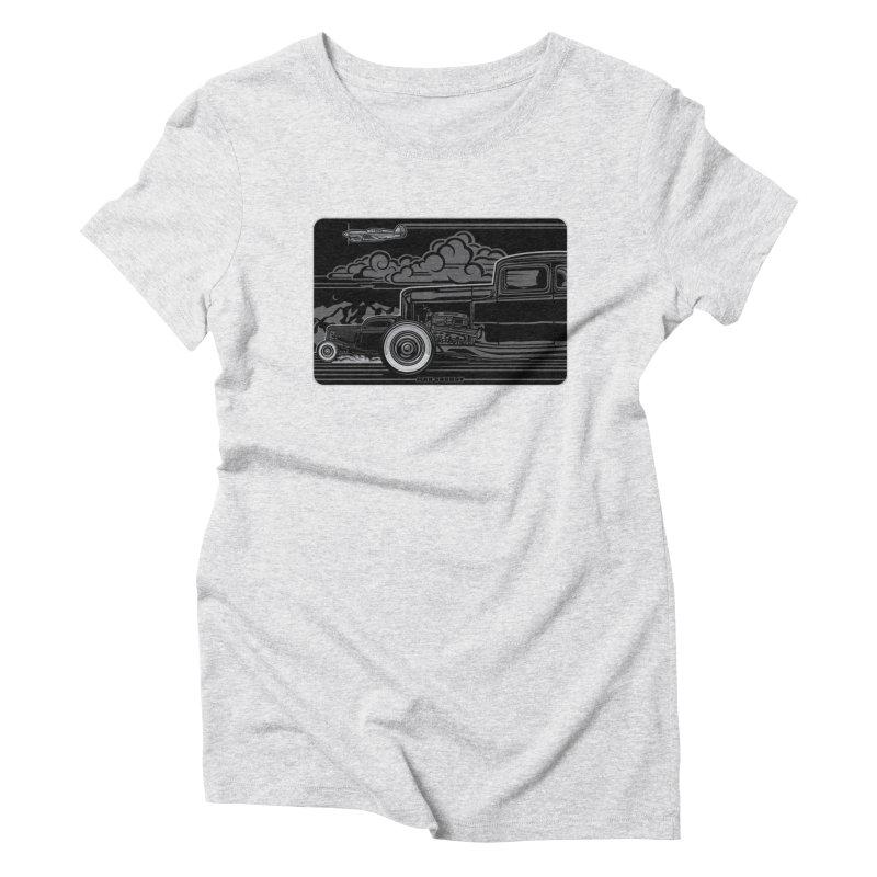 TRI POWER NOIR t-shirt (men, women, kids) Women's T-Shirt by Max Grundy Design's Artist Shop