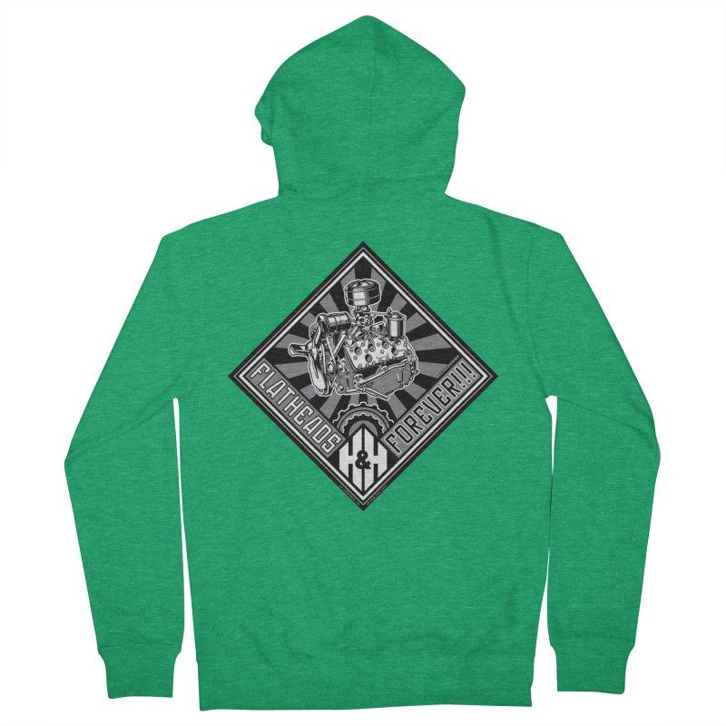 FLATHEADS FOREVER t-shirt (men, women, kids) Men's Zip-Up Hoody by Max Grundy Design's Artist Shop