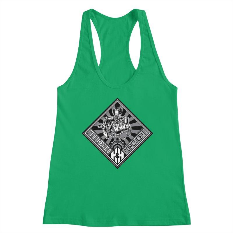 FLATHEADS FOREVER t-shirt (men, women, kids) Women's Tank by Max Grundy Design's Artist Shop