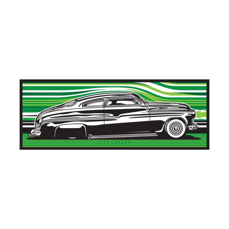 GREEN STREAMLINE 50 t-shirt (men, women, kids) Men's T-Shirt by Max Grundy Design's Artist Shop