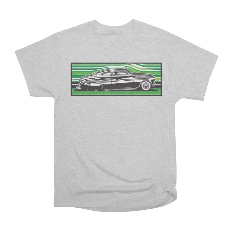 GREEN STREAMLINE 50 t-shirt (men, women, kids) Men's T-Shirt by Max Grundy Design's Artist Shop