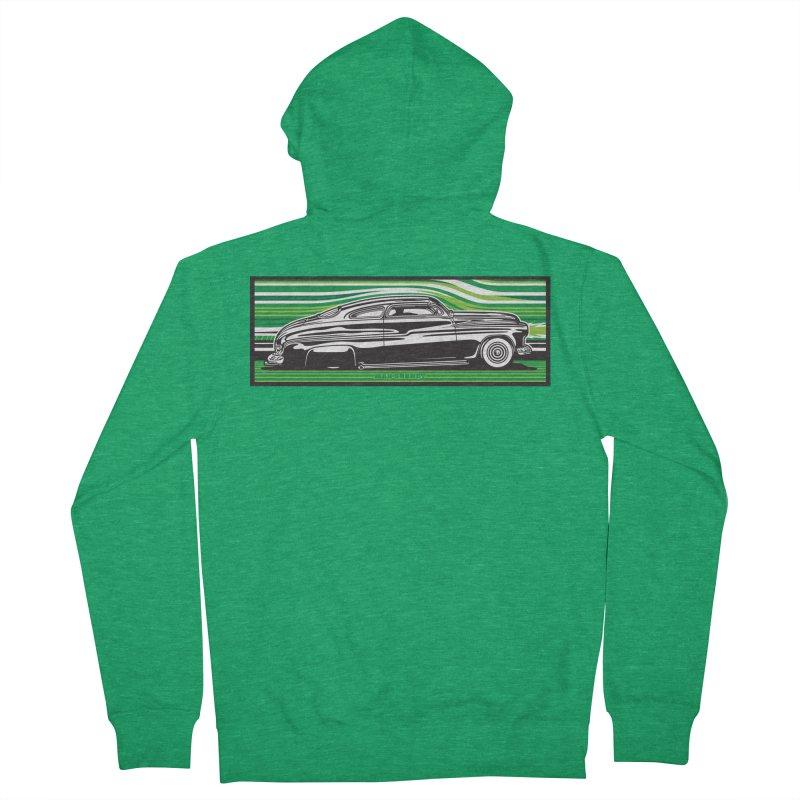 GREEN STREAMLINE 50 t-shirt (men, women, kids) Men's Zip-Up Hoody by Max Grundy Design's Artist Shop