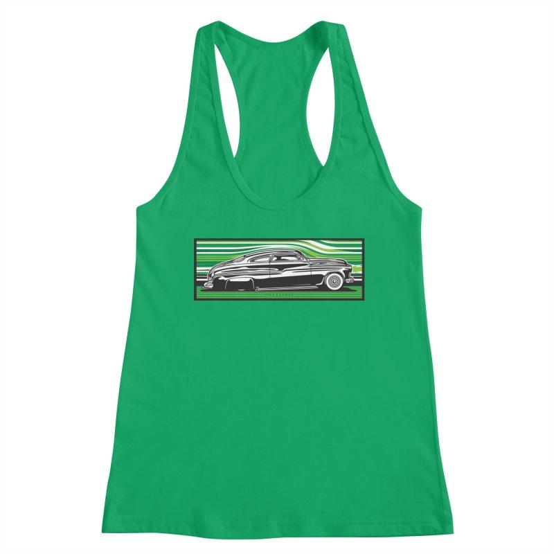 GREEN STREAMLINE 50 t-shirt (men, women, kids) Women's Tank by Max Grundy Design's Artist Shop