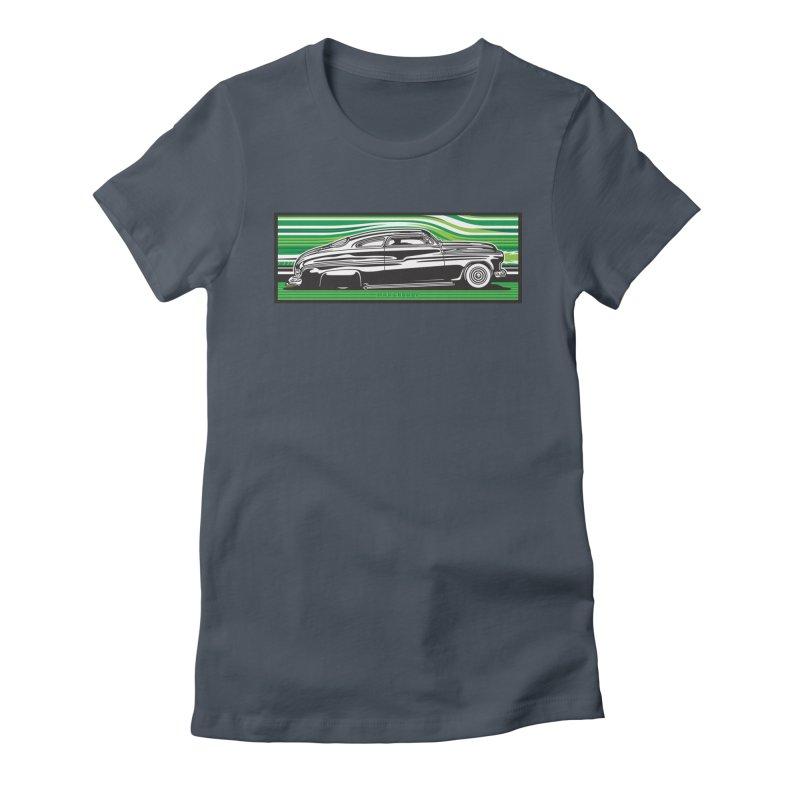 GREEN STREAMLINE 50 t-shirt (men, women, kids) Women's T-Shirt by Max Grundy Design's Artist Shop