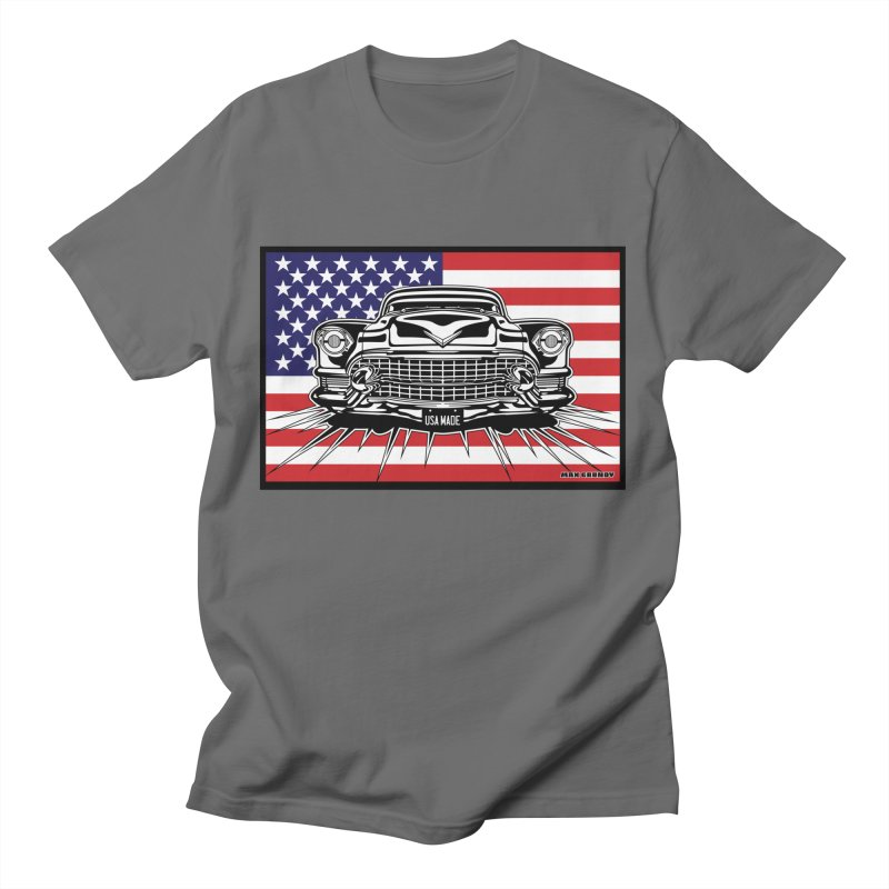 USA MADE (color) t-shirt (men, women, kids) Men's T-Shirt by Max Grundy Design's Artist Shop