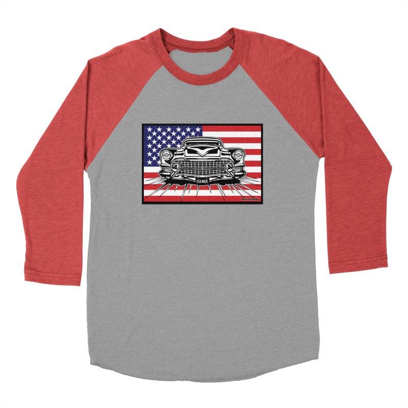 USA MADE (color) t-shirt (men, women, kids) Men's Longsleeve T-Shirt by Max Grundy Design's Artist Shop