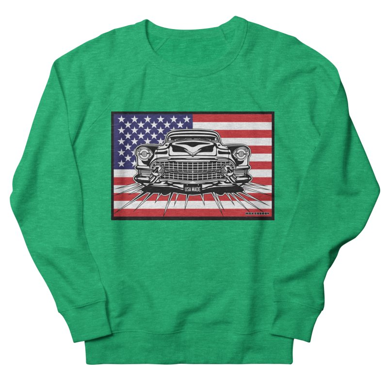 USA MADE (color) t-shirt (men, women, kids) Women's Sweatshirt by Max Grundy Design's Artist Shop