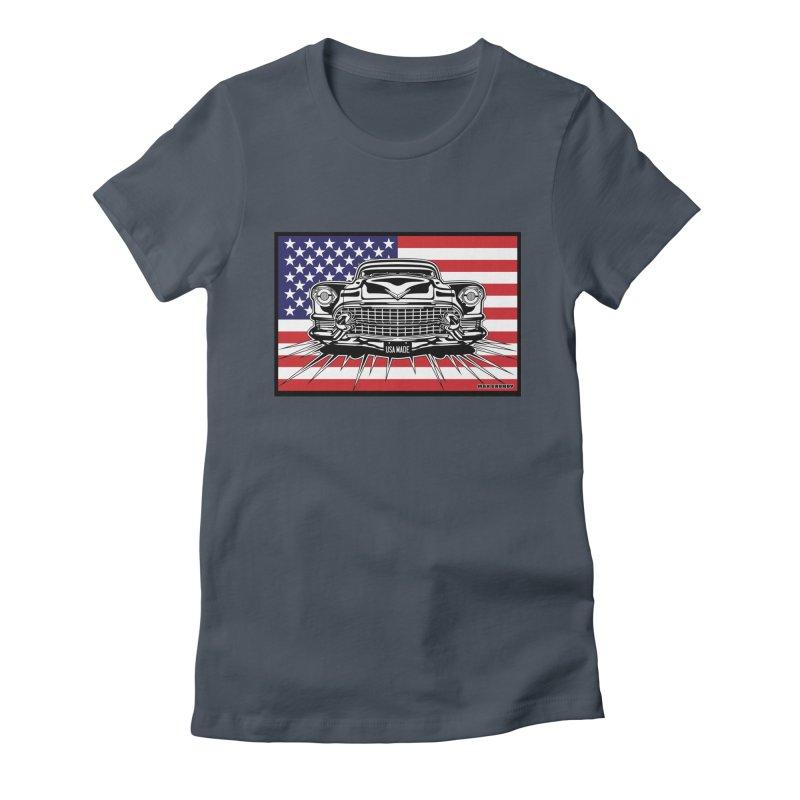 USA MADE (color) t-shirt (men, women, kids) Women's T-Shirt by Max Grundy Design's Artist Shop