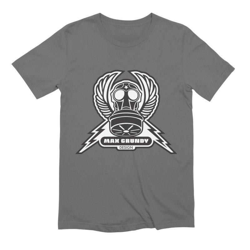 GAS MASK CREST t-shirt (men, women, kids) Men's T-Shirt by Max Grundy Design's Artist Shop