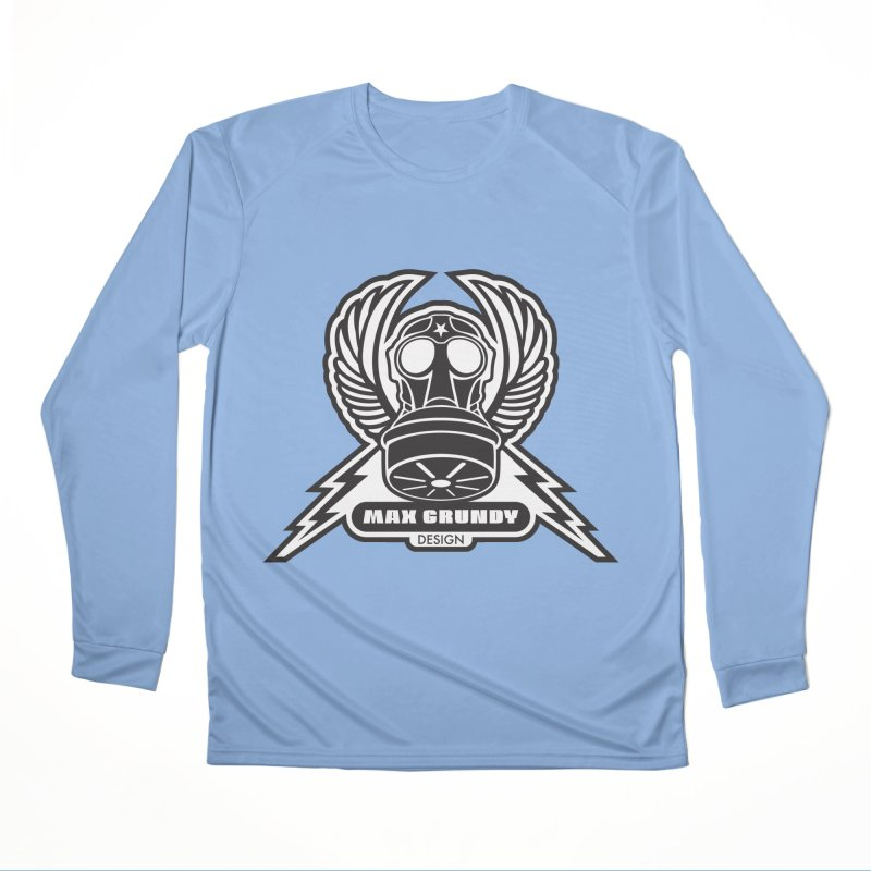 GAS MASK CREST t-shirt (men, women, kids) Women's Longsleeve T-Shirt by Max Grundy Design's Artist Shop