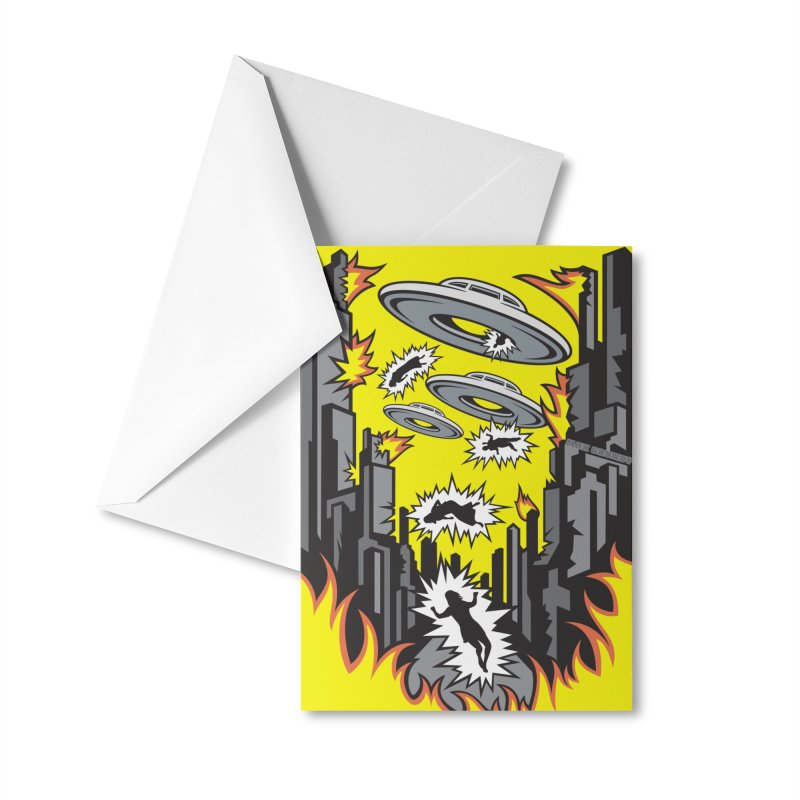 XENOPHOBIA phone case Accessories Greeting Card by Max Grundy Design's Artist Shop