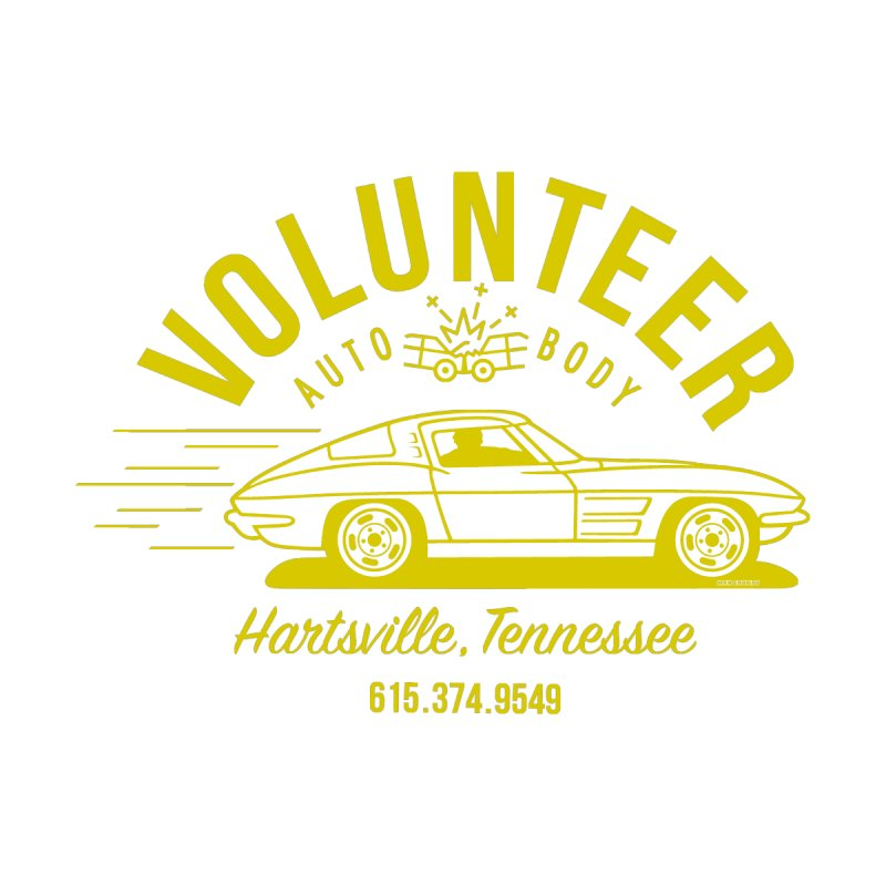 VOLUNTEER AUTO BODY t-shirt (men, women, kids) Men's T-Shirt by Max Grundy Design's Artist Shop