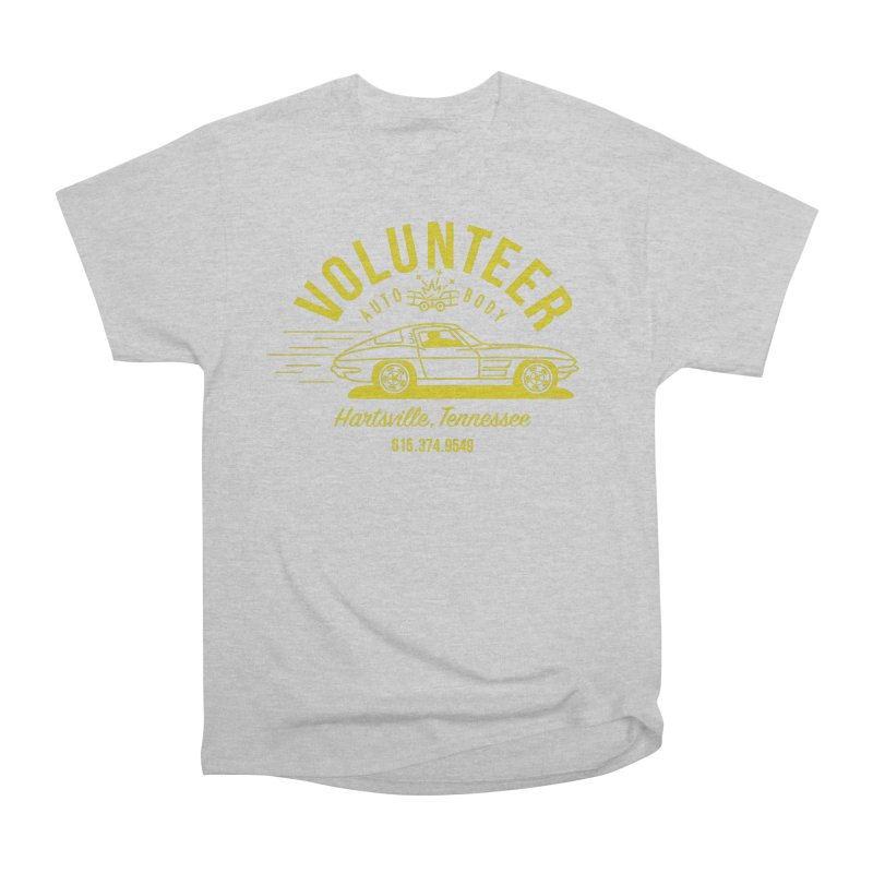 VOLUNTEER AUTO BODY t-shirt (men, women, kids) Men's T-Shirt by Max Grundy Design's Artist Shop