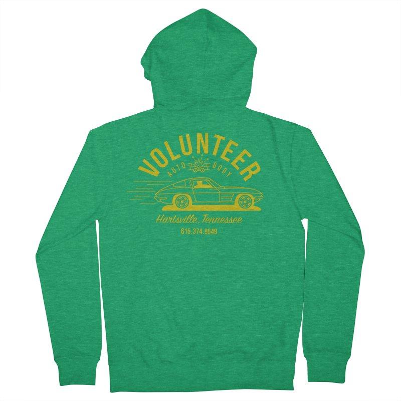 VOLUNTEER AUTO BODY t-shirt (men, women, kids) Men's Zip-Up Hoody by Max Grundy Design's Artist Shop