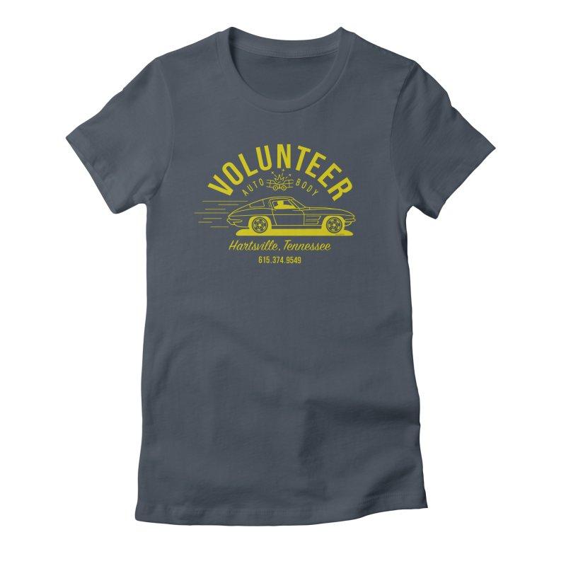 VOLUNTEER AUTO BODY t-shirt (men, women, kids) Women's T-Shirt by Max Grundy Design's Artist Shop