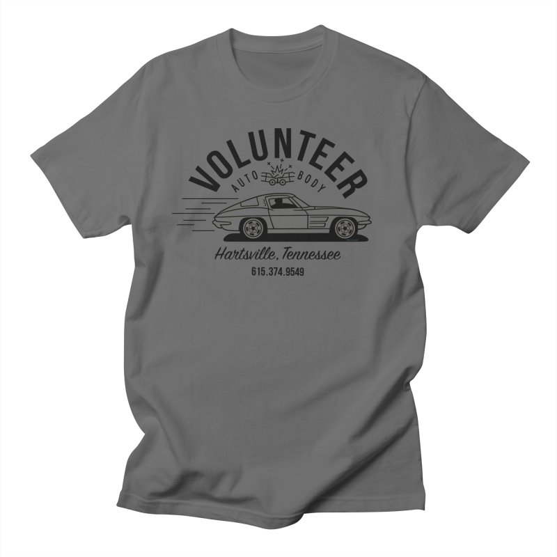 VOLUNTEER AUTO BODY black text for light shirts (men, women, kids) Men's T-Shirt by Max Grundy Design's Artist Shop