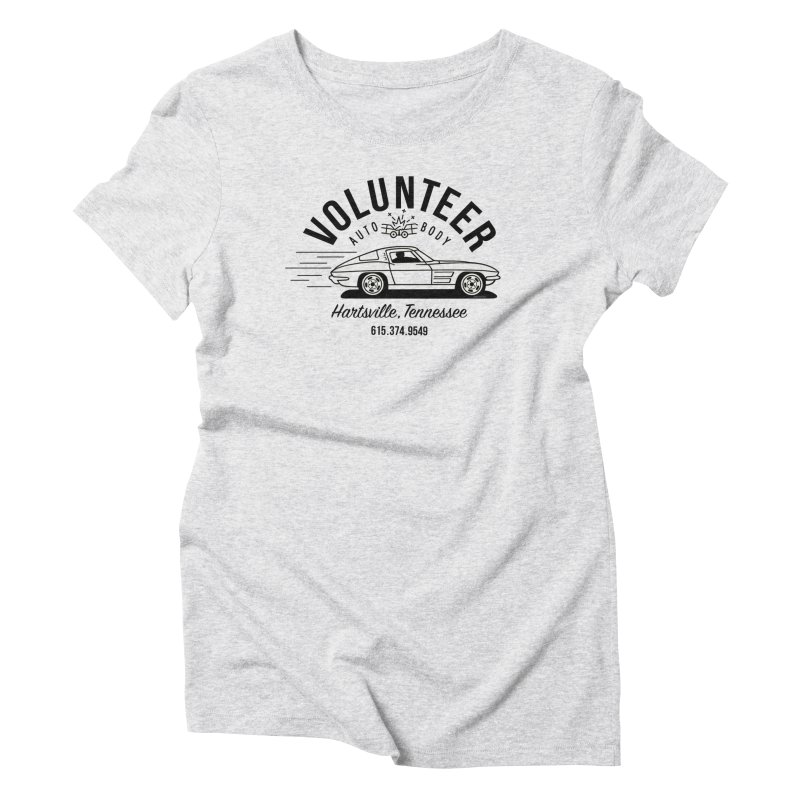 VOLUNTEER AUTO BODY black text for light shirts (men, women, kids) Women's T-Shirt by Max Grundy Design's Artist Shop
