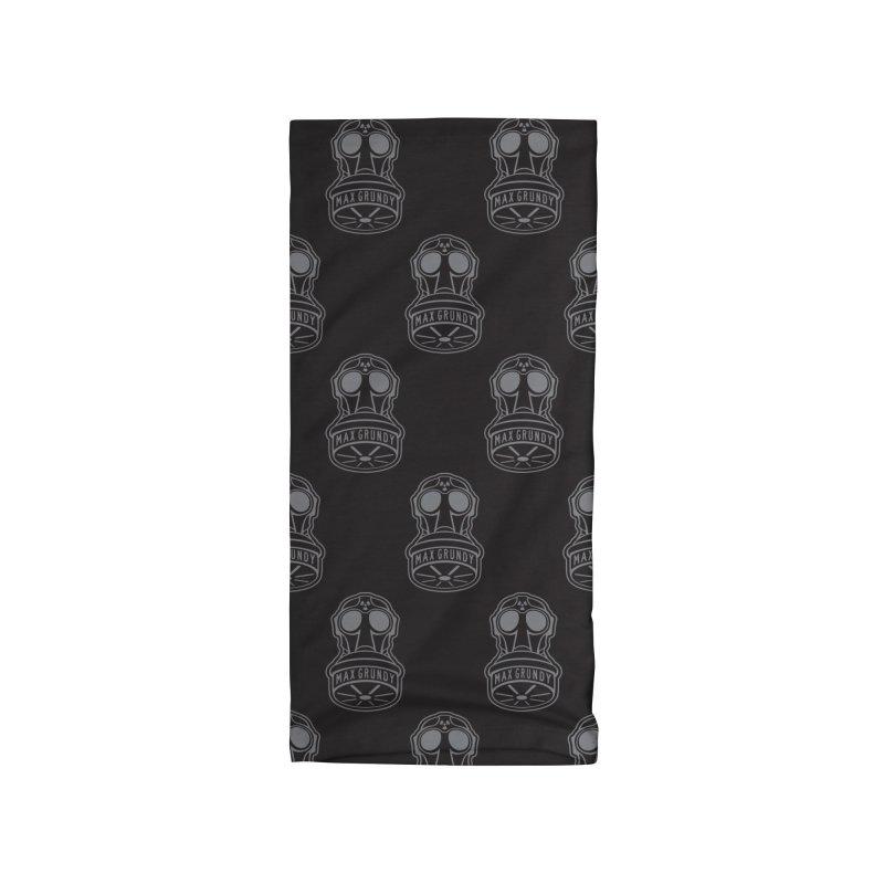 BLACK GASMASK neck gaiter Accessories Neck Gaiter by Max Grundy Design's Artist Shop
