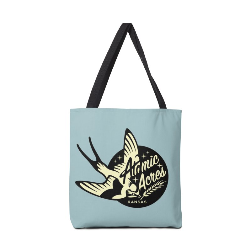 ATOMIC ACRES KANSAS tote bag (turquoise) Accessories Bag by Max Grundy Design's Artist Shop