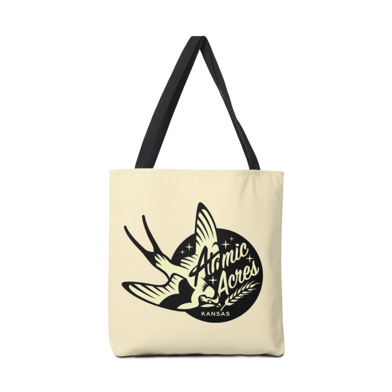 ATOMIC ACRES KANSAS tote bag (butter) Accessories Bag by Max Grundy Design's Artist Shop