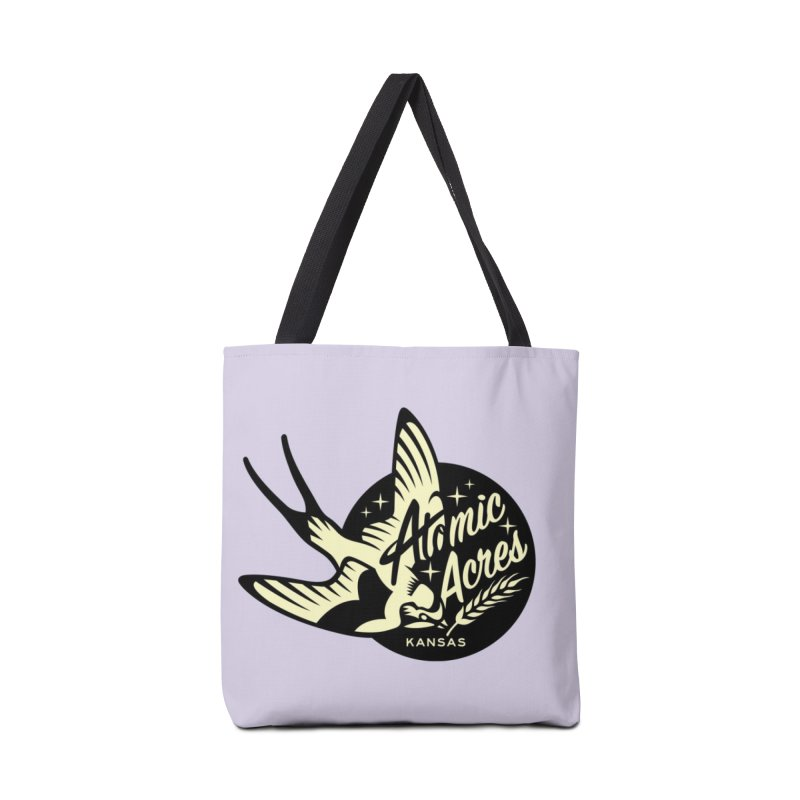 ATOMIC ACRES KANSAS tote bag (lavender) Accessories Bag by Max Grundy Design's Artist Shop