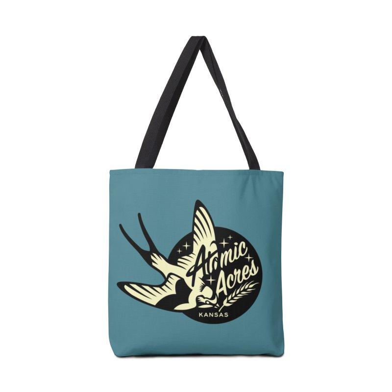 ATOMIC ACRES KANSAS tote bag (teal) Accessories Bag by Max Grundy Design's Artist Shop