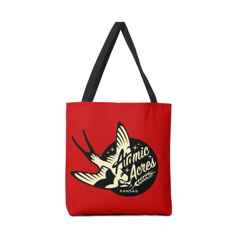 ATOMIC ACRES tote bag (red) Accessories Bag by Max Grundy Design's Artist Shop