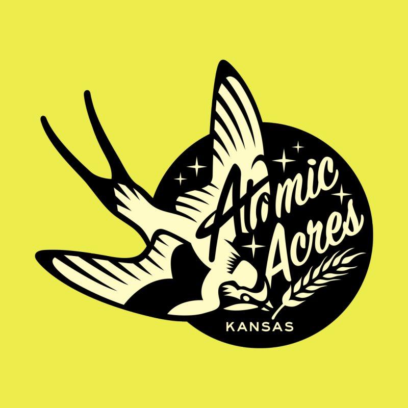 ATOMIC ACRES KANSAS tote bag (lemon) Accessories Bag by Max Grundy Design's Artist Shop