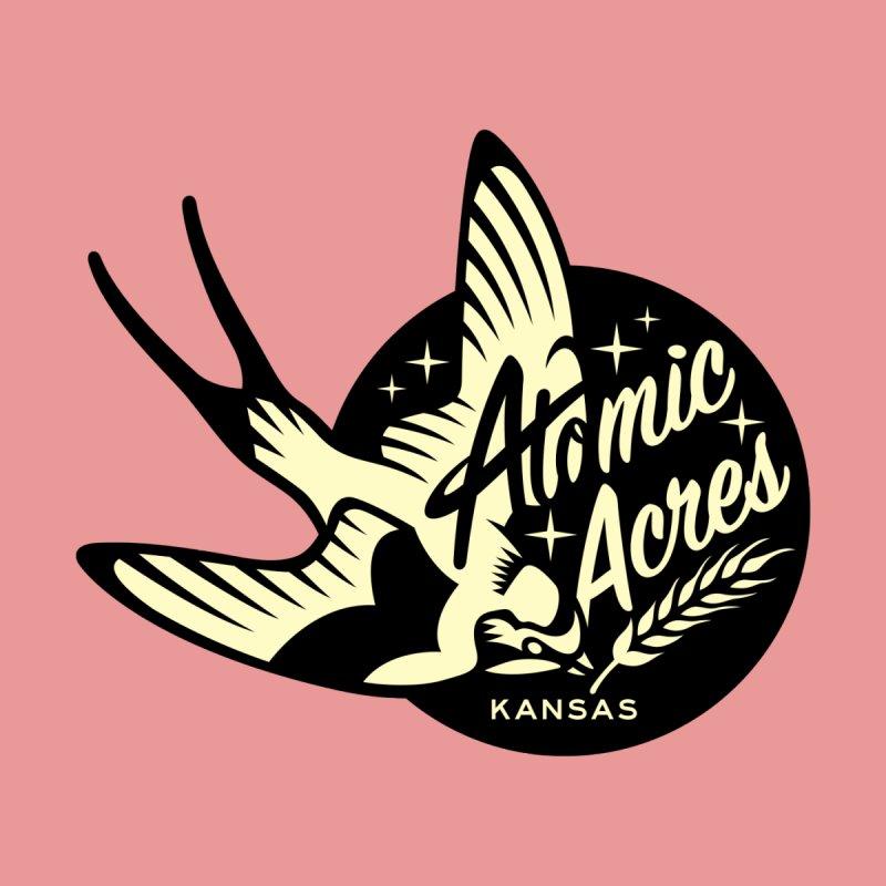 ATOMIC ACRES KANSAS tote bag (flamingo) Accessories Bag by Max Grundy Design's Artist Shop
