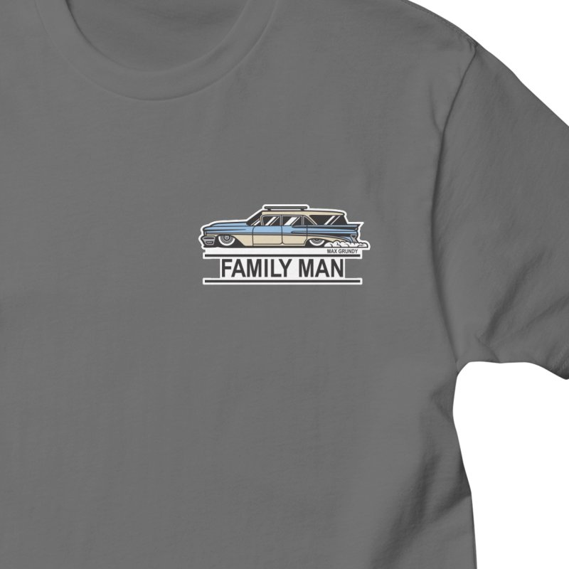 FAMILY MAN front and back Men's T-Shirt by Max Grundy Design's Artist Shop
