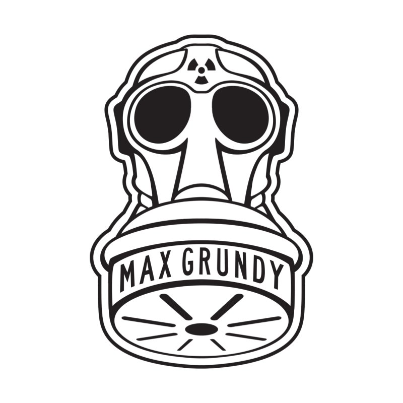 Gas Mask (Black) Accessories Magnet by Max Grundy Design's Artist Shop