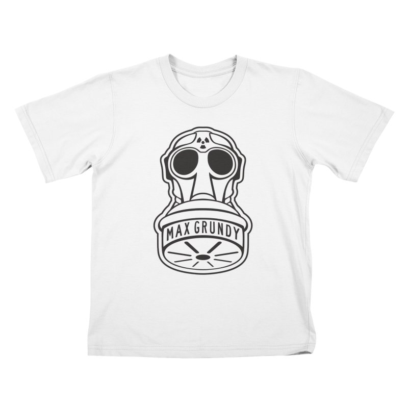 Gas Mask (Black) Kids T-Shirt by Max Grundy Design's Artist Shop